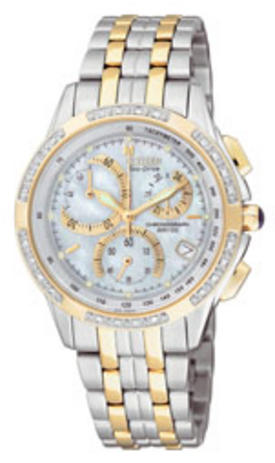 Citizen dame med diamanter Bicolor-chronograf